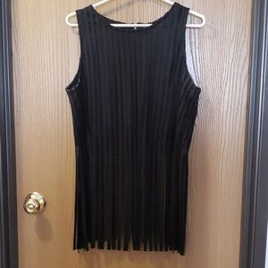 WHY Black Crop Top with Fringe